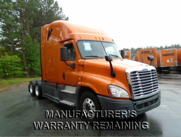 USED 2014 FREIGHTLINER CASCADIA SLEEPER TRUCK #75173